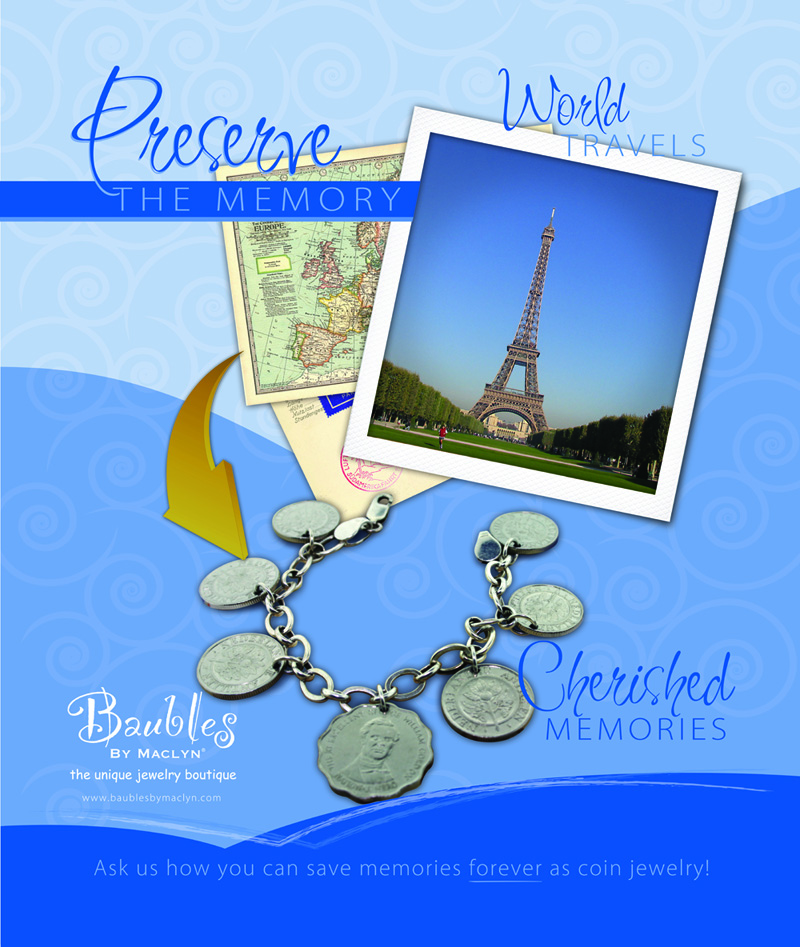travel coin jewelry
