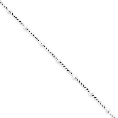 sterling silver beaded box chain
