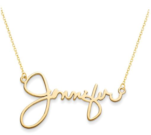 signature nameplate sterling silver