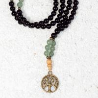 aventurine onyx mala necklace