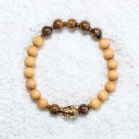 tigers eye sandalwood mala bracelet